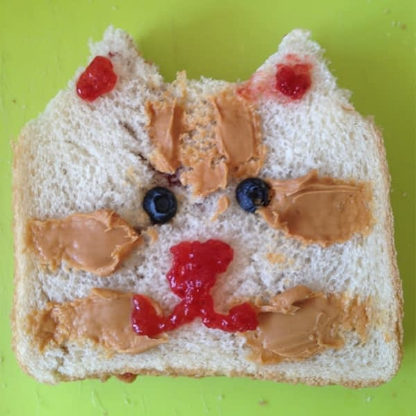 Sandwich that looks like a cat