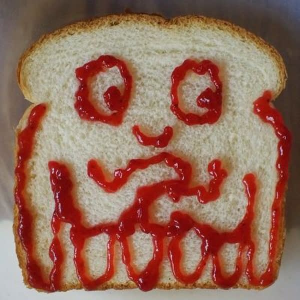 Sandwich that looks like a jellyfish.