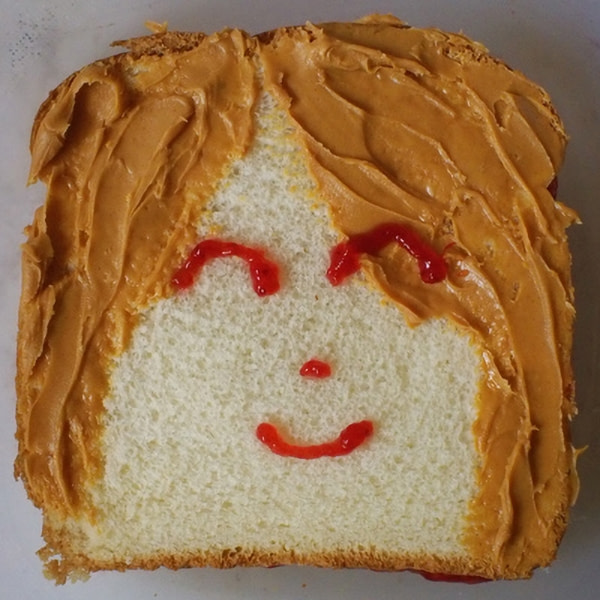 Sandwich that looks like a girl.
