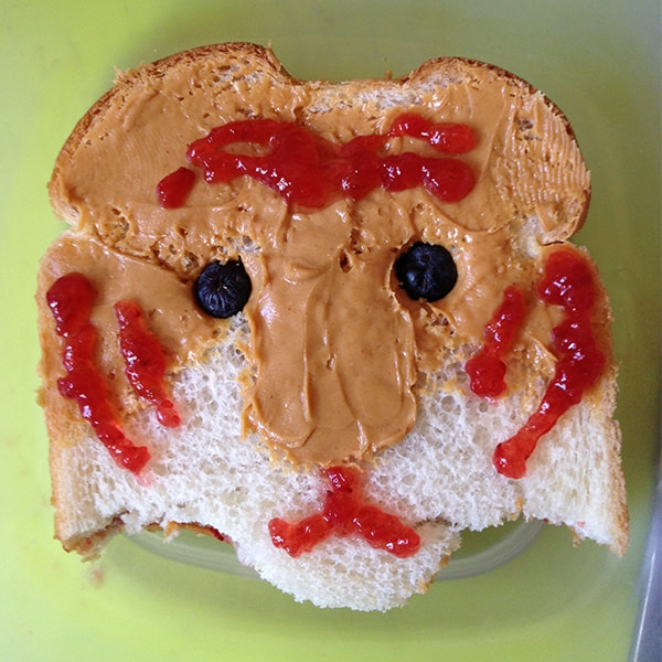 Sandwich that looks like a tiger