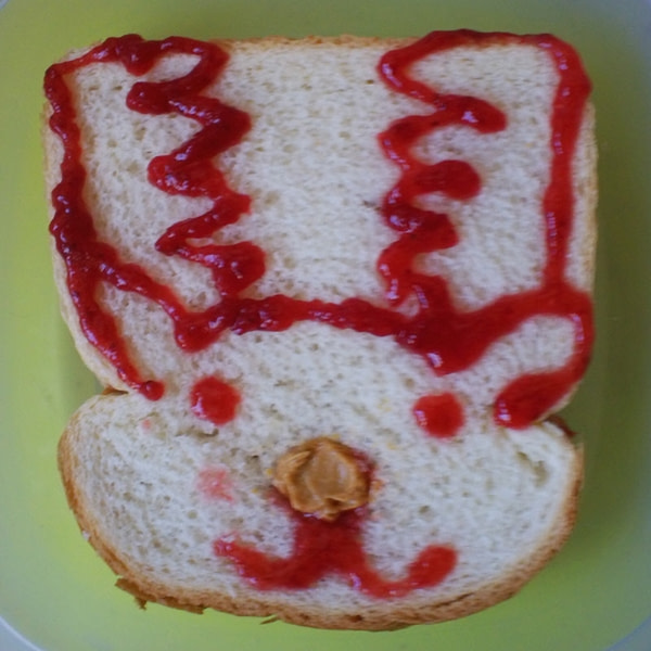Sandwich that looks like a deer.