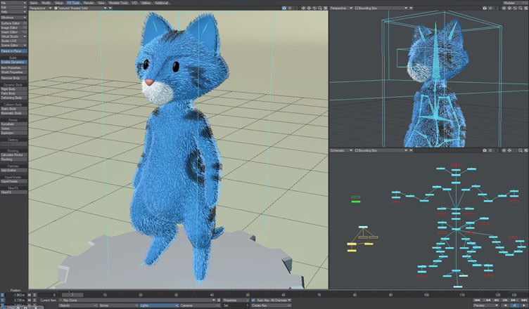 Sergeant Marshmallow FiberFX test in LightWave