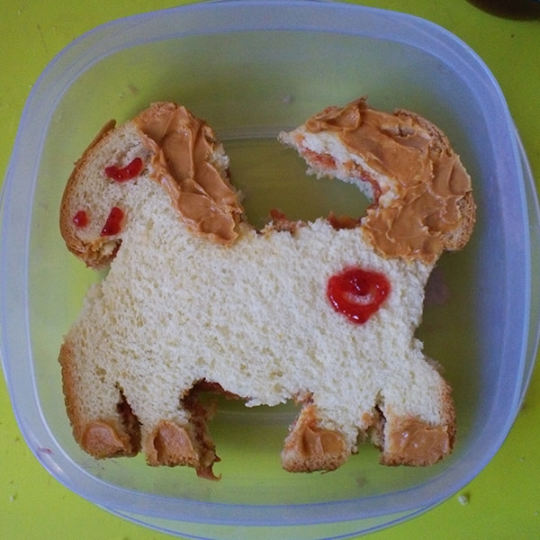 Sandwich that looks like a pony