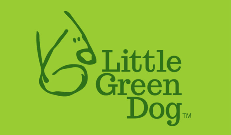 Little Green Dog card
