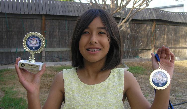Sienna wins film awards (age 9)