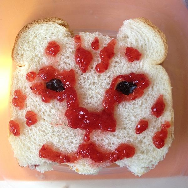 Sandwich that looks like a snow leopard