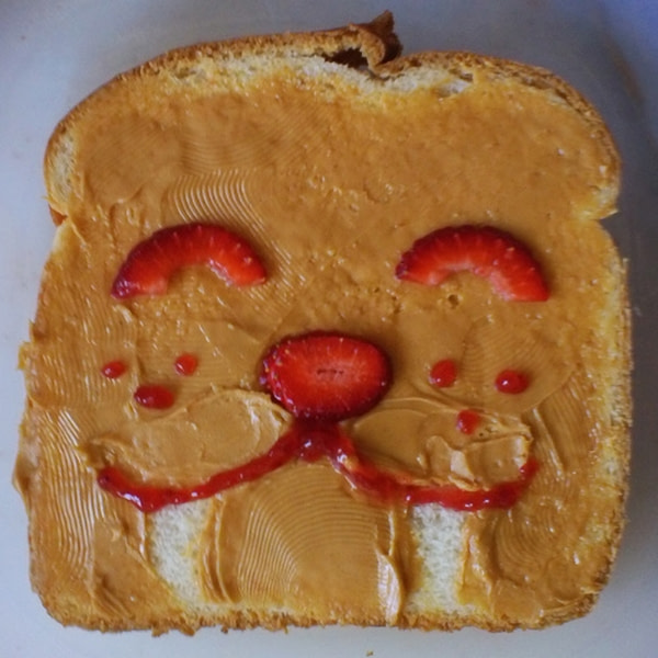 Sandwich that looks like a walrus.