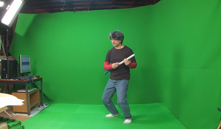 Motion capture test in garage