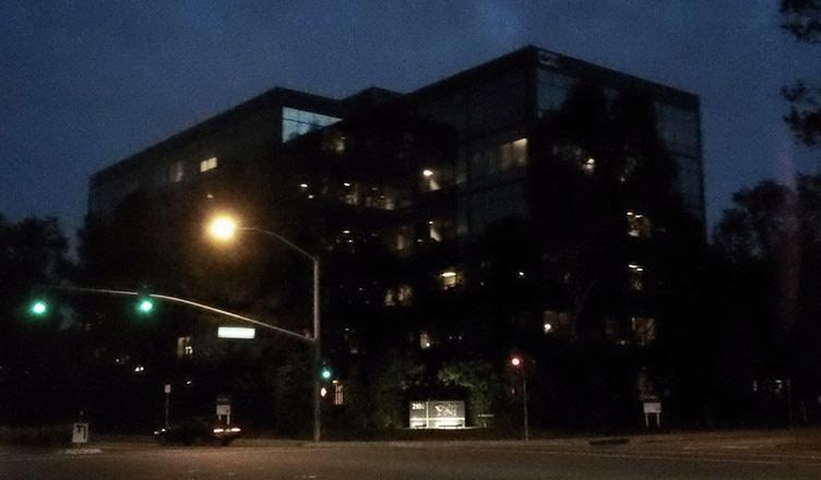 Rhythm & Hues Studio building at night (2013)