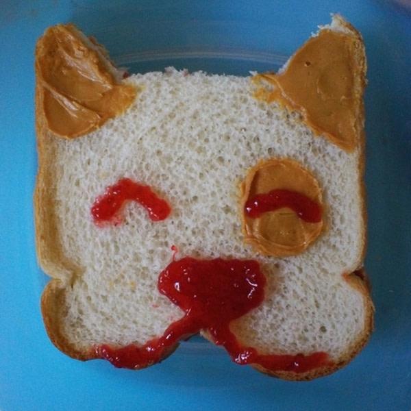 Sandwich that looks like a doggie